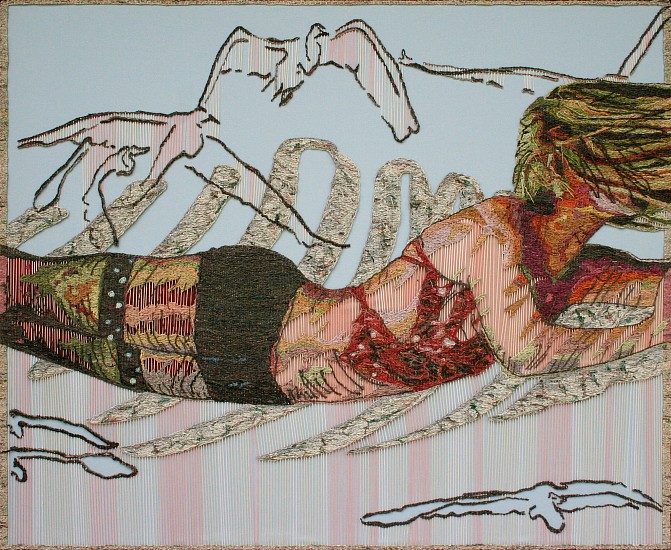 TAMLIN BLAKE, A New Dance Newspaper tapestry on foam core