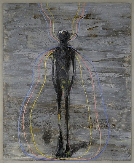 GUY FERRER, Filament Mixed media on canvas